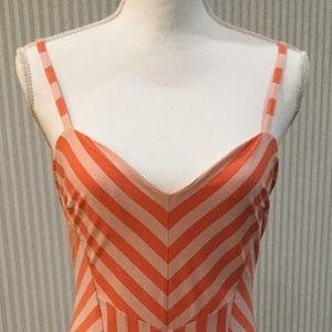 Sexy Coral summer Bebe dress
